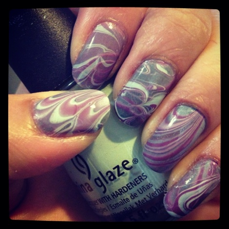 water marble blue/purple/green