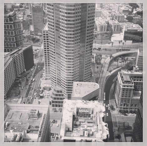 This is the view from one of the windows on the 46th floor of the AON Corporation building.