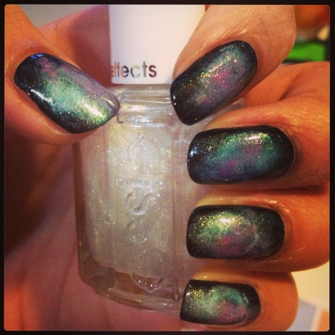 Add a cool Instagram filter, and you have some simple, beautiful, and out of this world nails!